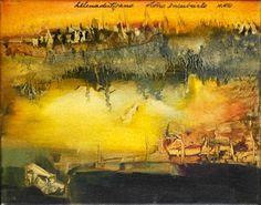 """""""Otoño encubierto"""" - Helena Distefano - Oleo sobre tela - 24 x 30 cm. www.esencialismo.com"""