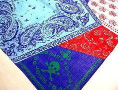 Vivienne Westwood Handkerchief scarf bandana Cotton Blue Orb L Auth New