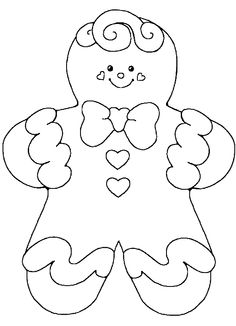 gingerbread cute baby girl coloring pages - Colouring Pictures For Girls