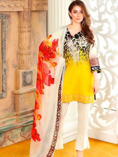 4e896a3d52 Charizma Combination Embroidered Lawn Vol-5 Collection Lawn Suits, Lawns,  India, Fashion