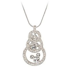Three Circle Swarovski Crystal Mickey Mouse Necklace by Arribas