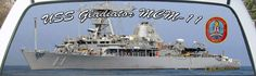 USS Gladiator MCM-11 Mine Countermeasures Ship Rear Window Mural Graphic.
