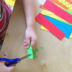 Scissor cutting practice, from toddler to preschool at How we Montessori