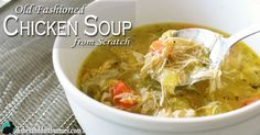 Before we get to the recipe at the bottom of the post, please take a look at these tips! Tips for a Perfect Old Fashioned Chicken Soup from Scratch 1. Making a homemade soup from scratch does take some time but the end result is totally worth it. It's not difficult at all to make …
