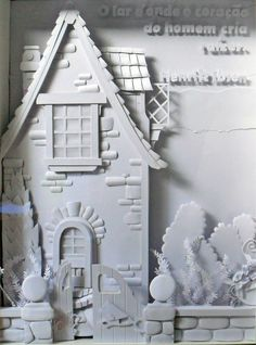 Paper Sculpture - White Paper - trabalho realizado em aula pela aluna Areli Mascareli