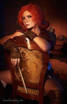 "Character: Triss Merigold of Maribor / From: Andrzej Sapkowski's 'The Witcher' Short Stories and Novels & CD Projekt RED's 'The Witcher' Video Game Series / Cosplayer: Zhanna Rudakova (aka Princess Ryofu, aka Jannet-Sorekage, aka Jannet ""Incosplay"" Vinogradova) (2016)"