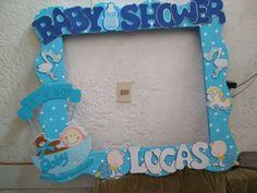 Echa un vistazo a este increíble vestido de baby shower: qué diseño y estilo inspirados . Baby Shower Frame, Distintivos Baby Shower, Baby Shower Backdrop, Baby Shower Brunch, Unique Baby Shower, Baby Shower Balloons, Baby Shower Cards, Baby Shower Decorations For Boys, Baby Shower Centerpieces