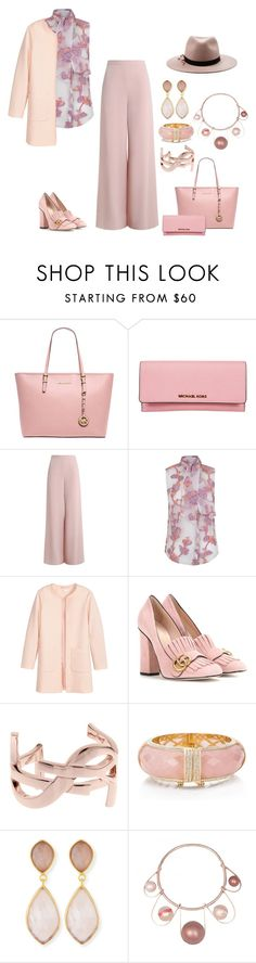 """""""Untitled #2067"""" by christinemusal ❤ liked on Polyvore featuring MICHAEL Michael Kors, Michael Kors, Zimmermann, The 2nd Skin Co., Jakke, Gucci, Yves Saint Laurent, Kate Spade, Dina Mackney and Eugenia Kim"""
