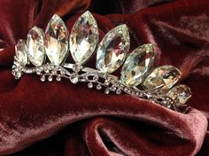 Bridal headband Bridal tiara Crystal headband by GlamDuchess