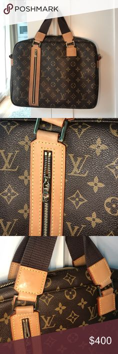 Louis Vuitton monogram Bosphore ( no strap ) Beautiful bag, real vachetta leather and excellent quality, great for travel, has a lovely Latin and was well loved Louis Vuitton Bags Laptop Bags
