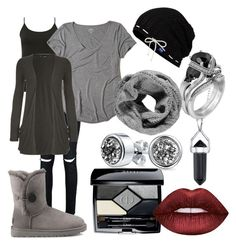 """""""winter grey"""" by zombiebarbie1333 on Polyvore featuring Boohoo, M&Co, Hollister Co., Bridge Jewelry, WearAll, Keds, Bling Jewelry, Christian Dior, Lime Crime and UGG"""
