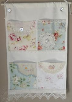 Shabby Chic Can Benefit Those on a Budget – Shabby Chic Talk Fabric Crafts, Sewing Crafts, Sewing Projects, Lace Decor, Shabby Chic Decor, Crafts To Sell, Diy And Crafts, Handkerchief Crafts, Creation Deco