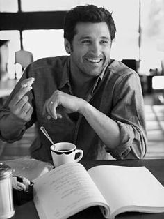 I'd  have no trouble getting up in the morning if I could have my coffee with Patrick Dempsey!