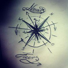 Wir können den Wind nicht drehen, aber die Segel neu setzen... Es ist Zeit für einen neuen Kurs. #tattoolove #tattooidee #neuerkurs #Kompass #windrose