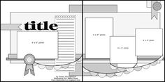 4 photo Paper Niche: A Sketch and a Layout 2 pager two page scrapbook layout double page layout