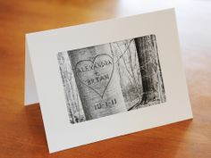 "Personalized Love Tree Card    Have your names and a special date ""carved"" into a virtual tree, and after the note is read, place the already-matted image into a frame.    ($12, pictureitpersonal.etsy.com)        Read more: Valentines Day Gift Ideas for Him and Her - Romantic Gift Ideas - Country Living"