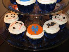 NY mets cupcakes