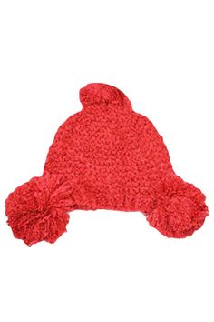 Soft Knit Triple Pom-Pom Beanie Hat