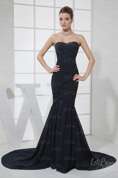 #Trumpet #Strapless #Chiffon Elastic Silk #Prom Dress #Cocktail Dresses