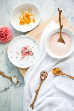 DIY coconut salt scrub recipe