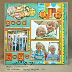 Scrapbooking Summer Layouts - Echo Park - Sweet Summer Time Patterned Paper | the BLOG for Scrapbooking Fanatics!