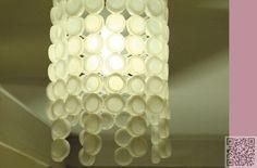 7. #Lampshade - 10 Beautiful Ways to Upcycle #Bottle Caps ... → #Lifestyle #Beautiful