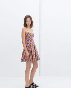 Image 1 of BOX PLEAT PRINTED DRESS from Zara