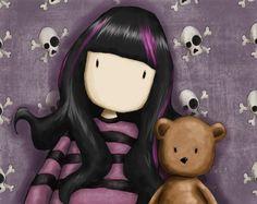 purple Gorjuss | Titre de l'image : Suzanne Woolcott - Gorjuss