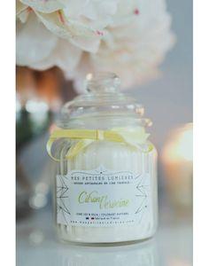 Bougie bonbonnière en cire de soja, parfumée Citron verveine.