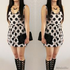 Spotted @sheiladollxo in a cute Charlotte Russe romper! http://www.charlotterusse.com/thumbnail/Dresses/Jumpsuits-Rompers/pc/3021/2628.uts