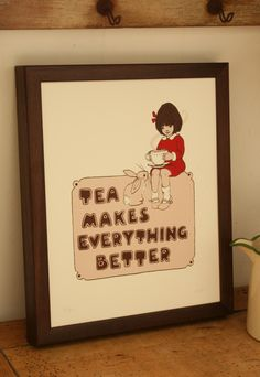 Tea AND bunnies makes everything better! Belle and Boo.