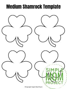 These free printable shamrock templates are perfect in any St. Prints are in large, medium and small! St Patricks Day Crafts For Kids, St Patrick's Day Crafts, Diy Crafts For Girls, Rock Crafts, Toddler Crafts, Preschool Crafts, March Crafts, Shamrock Printable, Shamrock Template