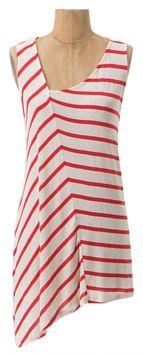 Anthropologie Splintered Striped Sleeveless Top Red & White Stripe