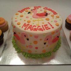 adorable flamingo cake!