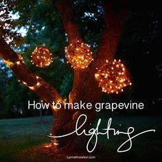 #DIY : How to make grapevine lighting balls via @lynneknowlton