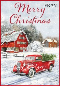 Selmad Merry Christmas Garden Flag Red Truck Double Sided Home Decorative, Winter Rustic Quote House Yard Flag Xmas Pickup, Outside Holiday Yard Decorations, Horses Seasonal Outdoor Flag 12 x 18 Christmas Garden Flag, Christmas Red Truck, Christmas Scenes, Noel Christmas, Vintage Christmas, Christmas Crafts, Christmas Decorations, Christmas Ornaments, Yard Decorations