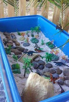 Dinosaur sensory tub