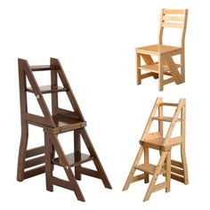 Find More Library Furniture Information about Wooden Folding Library Ladder Chair Library Furniture Step Ladder School Convertible Ladder Chair Step Stool Natural/Brown,High Quality chair computer,China chair accessories Suppliers, Cheap chair game from TATA Washitsu Interior Design & Decor on Aliexpress.com