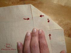 Pasión por las Labores: Doblado de esquinas en las telas