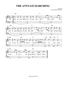 The Ants Go Marching Sheet Music and Song for Kids!