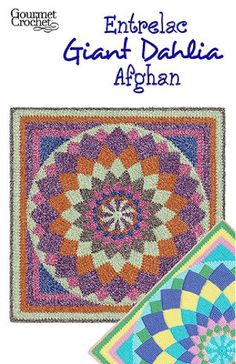 If you are a fan of patchwork blankets or quilts, you have to take a look at the Giant Dahlia Afghan pattern. This colorful, popular quilt pattern is interpreted in your choice of two entrelac methods for a truly spectacular showpiece. The entrelac blocks on each round grow outward from the crocheted pinwheel center to create a large round motif that is finished with your choice of a small edging or optional striped corners.Giant Dahlia Afghan pattern features instruct