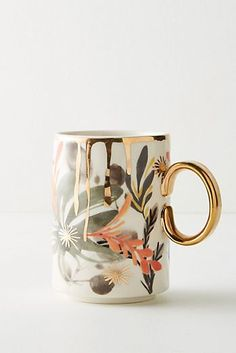 Anthropologie's collection of mugs and teacups are perfect for starting a relaxing morning with a cup of tea. Browse our unique mugs today. Keramik Design, Cute Mugs, Pretty Mugs, Mug Cup, Ceramic Pottery, Coffee Cups, Drink Coffee, Coffee Coffee, Coffee Beans