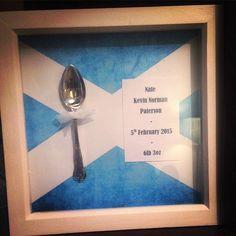 """#patriotic #babyspoon #handmade #handstamped #newbaby #scotland #scottish #first #spoon"" Photo taken by @runcible.spoon on Instagram, pinned via the InstaPin iOS App! http://www.instapinapp.com (02/12/2015)"