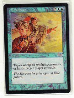 1998 Magic the Gathering Urza's Saga - Turnabout Uncommon Card #WizardsoftheCoast
