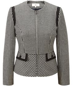 CC - Black/Ivory Harlequin Jacket #check
