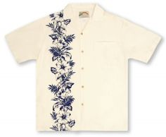 0e7bddcf86f Paradise Found Hibiscus Panel - Black On Cream . 🌺 🌺Aloha Shirt ...