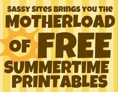Free Summertime Printables