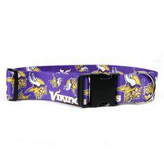 Minnesota Vikings 2 Inch Wide Dog Collar available at HotDogCollars.com  Vikings 2 b8b474f99