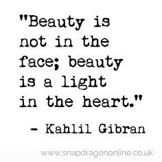 Beauty- a light in the heart