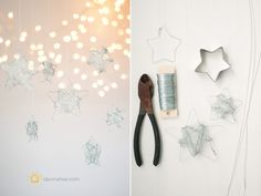 DIY - Starry, Starry Night: Holiday Stars - via themotherhuddle Noel Christmas, Christmas Crafts For Kids, Simple Christmas, Holiday Crafts, Christmas Decorations, Christmas Ornaments, New Year's Eve Celebrations, Theme Noel, My New Room